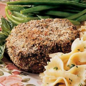 Herbed Beef Tenderloin Steaks Recipe -When winter weather doesn't allow for grilling outdoors, bake your steaks instead! Bread crumbs and seasonings seal in the meat's juices with wonderful results. —Taste of Home Test Kitchen