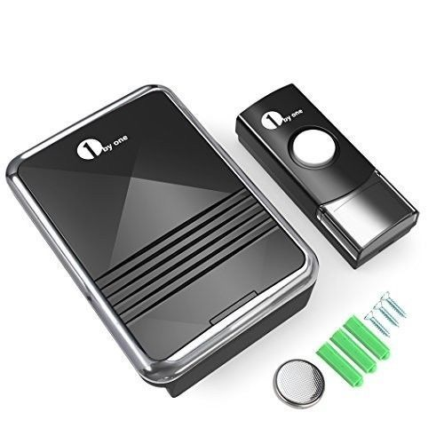 Wireless Kit Door Doorbell Chime Portable Batteries Plug In Door Sound and LED
