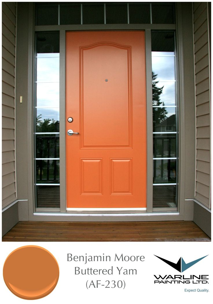 Benjamin Moore Buttered Yam (AF-230). One of my favorite front doors.