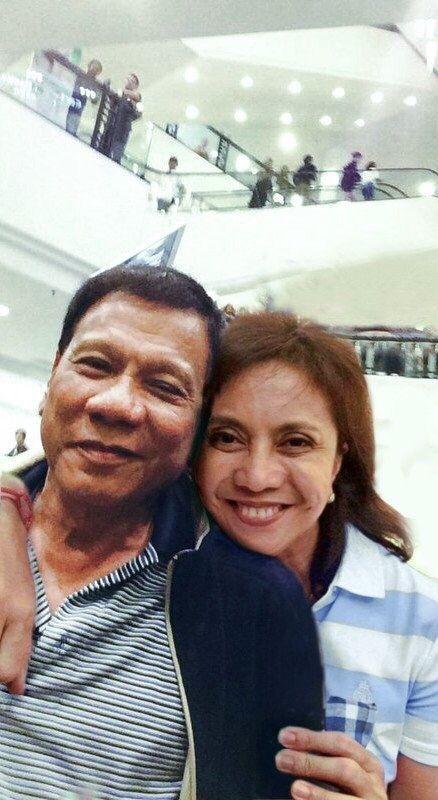 President Rodrigo Duterte and VP Leni Robredo.