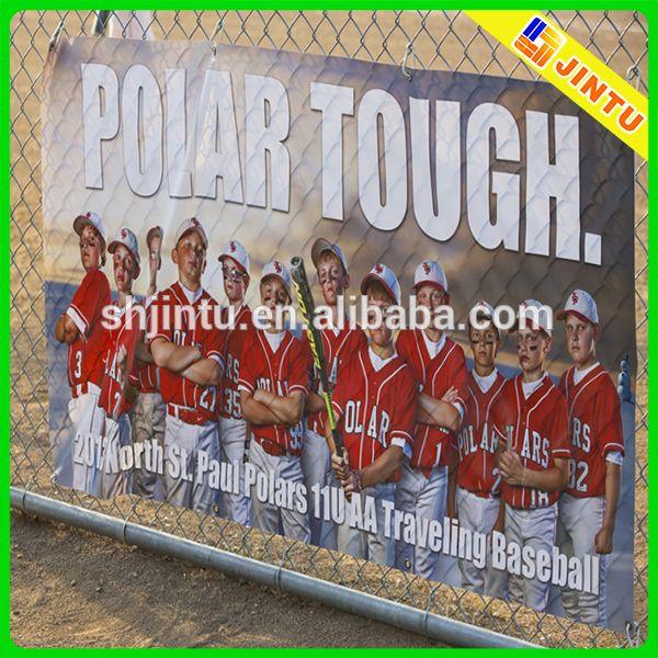 Large format street mesh banner for baseball advertising #baseball, #banner