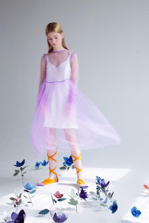 Платье прозрачное лиловое / Transparent dress lilac