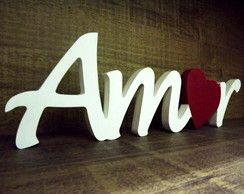 Palavra Amor em MDF