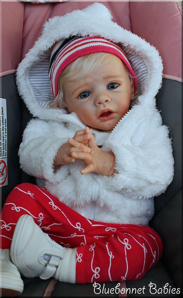 "❀Bluebonnet Babies❀ REBORN ""Ella"" Karola Wegerich SOLD OUT! Blonde Baby Girl #Elladollkit"