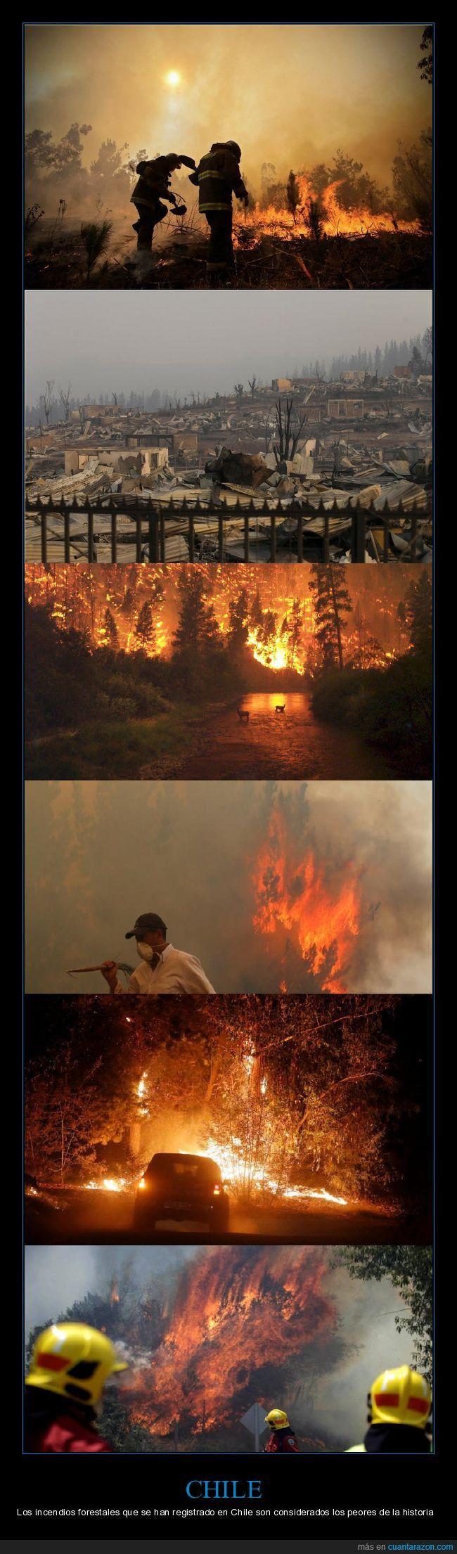 Malas noticias desde Chile :( - Los incendios forestales que se han registrado en Chile son considerados los peores de la historia   Gracias a http://www.cuantarazon.com/   Si quieres leer la noticia completa visita: http://www.skylight-imagen.com/malas-noticias-desde-chile-los-incendios-forestales-que-se-han-registrado-en-chile-son-considerados-los-peores-de-la-historia/