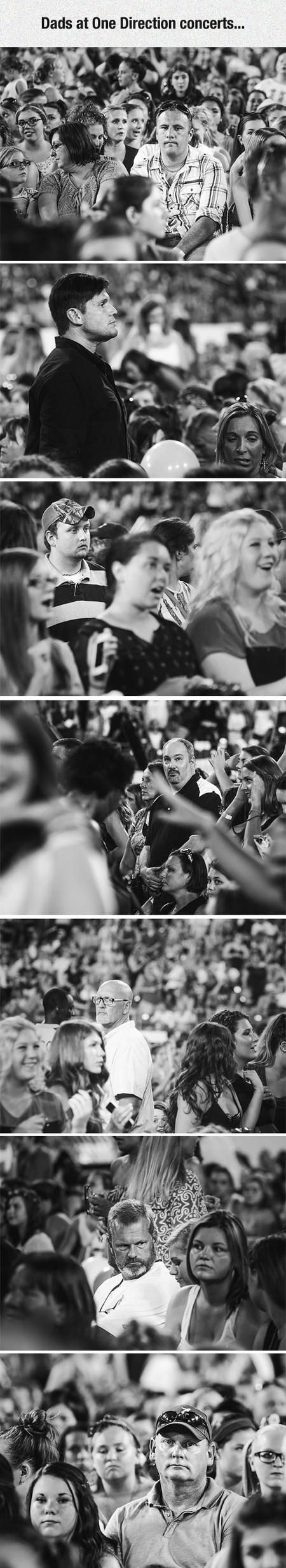 Dads At One Direction Concerts...this lifts me up when the world brings me down