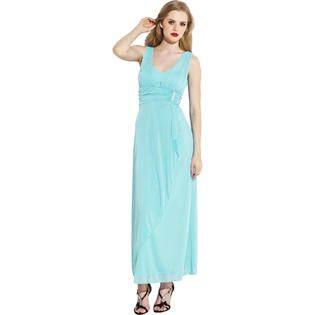 PacificPlex Mesh Wrap Bridesmaid Dress Rhinestone Pin Prom Gown at Sears.com