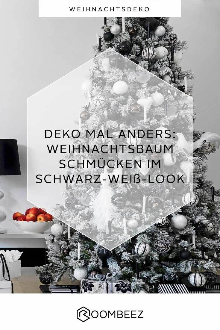 Weihnachtsbaum In Schwarz Weiss Schmucken Mal Anders Roombeez