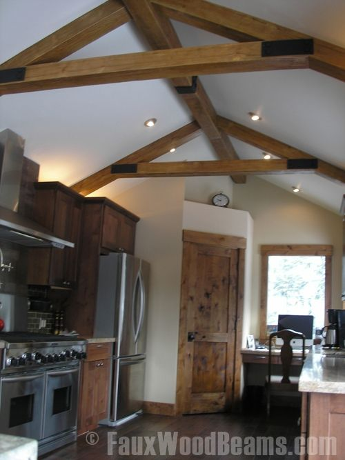 wood beams natural installing faux on cathedral ceiling for sale uk canada