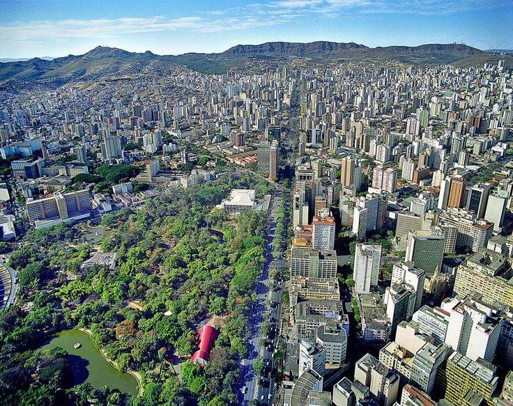 Vista aérea de Belo Horizonte, capital mineira. Visite o BrasilGuias