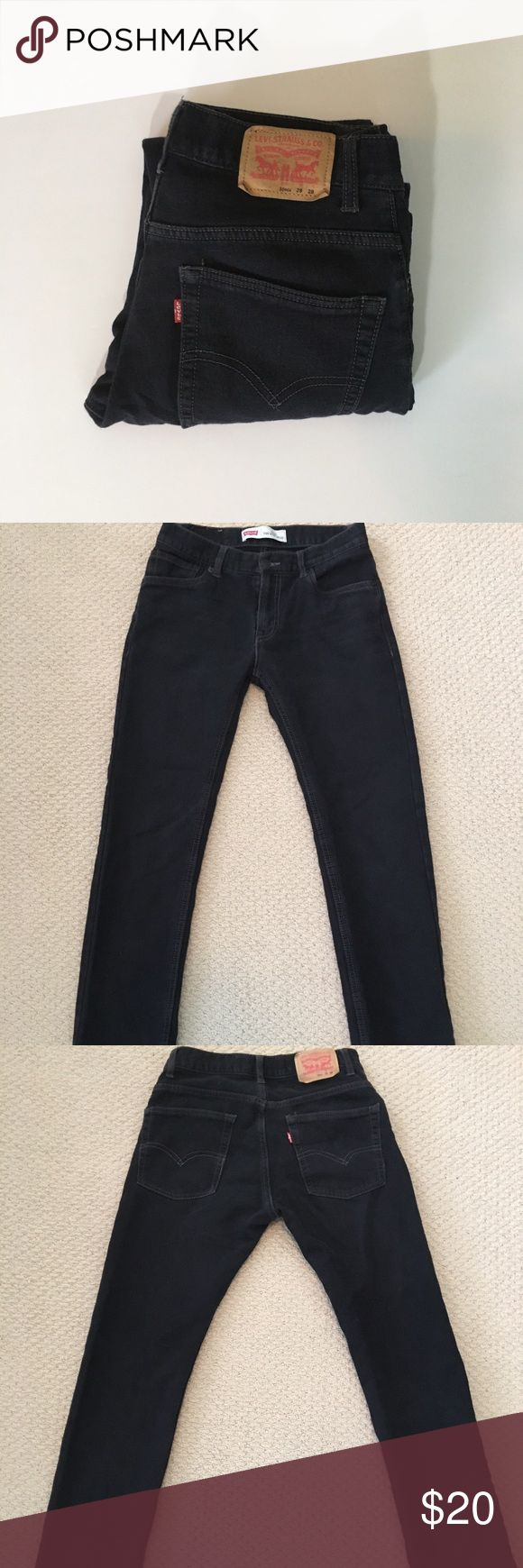 EUC Levi's 511 'The Knit' Jeans 28x28 These men's Levi's 511 Slim Jeans are in excellent condition. They're knit denim making them super comfortable and stretchy. The faded black color is perfect for everyday wear! Size 28x28 Levi's Jeans Slim