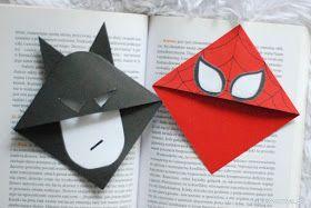 Zakładki do książek z motywem Batmana i Spider - Mana ;) Nowa instrukcja już na blogu ;)   #batman #spiderman #spider-man #superbohater #superhero #zakładka #zakładkadoksiążki #diy #zróbtosam #handmade #tutorial #poradnik #instrukcja #instruction #sposóbwykonania #jakzrobić #howto #craft #crafts #bookmark #bookmarks
