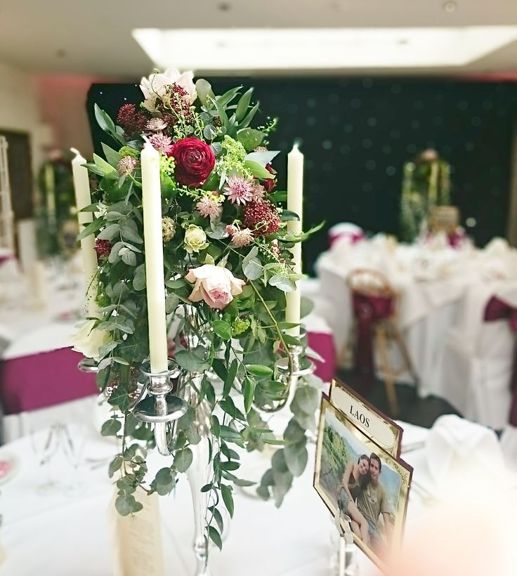 Another beautiful centrepiece at a recent wedding at Prested Hall, Feering, Colchester, Essex http://www.prested.co.uk/weddings/
