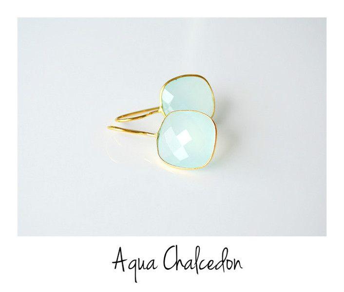 Edel:+Aqua+Chalcedon+Ohrringe+vergoldet+925++von+miaundmartha++auf+DaWanda.com