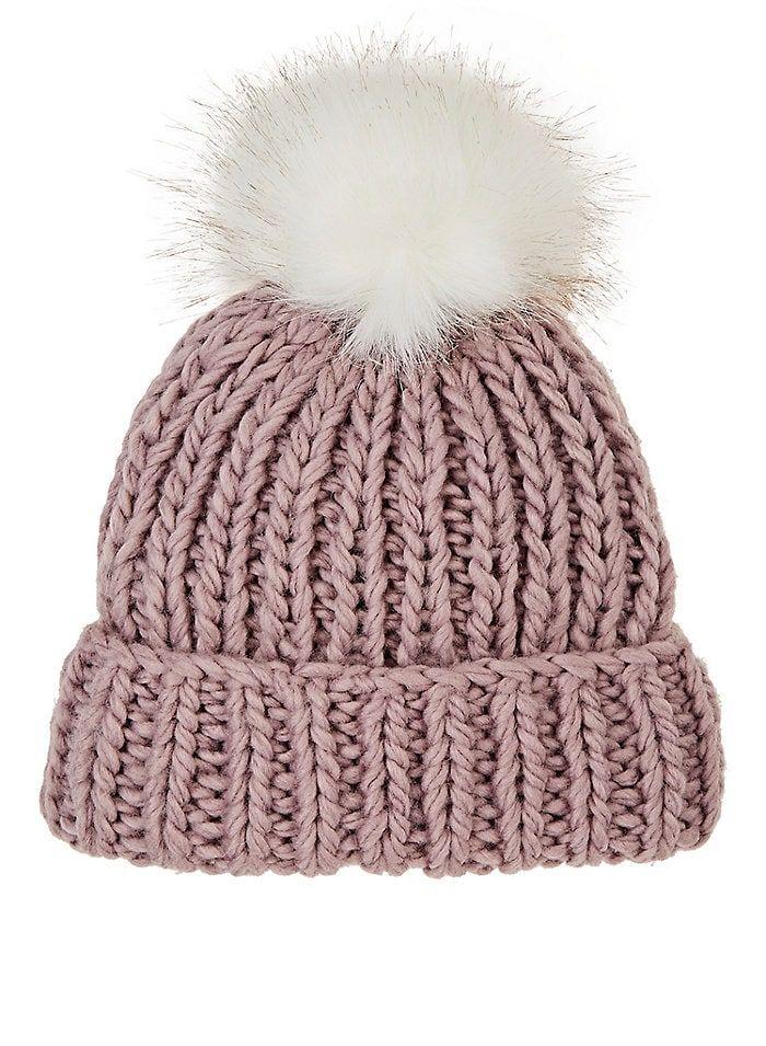 c2deea5d6d3 Barneys New York WOMEN S POM-POM-EMBELLISHED WOOL-BLEND HAT - ROSE ...