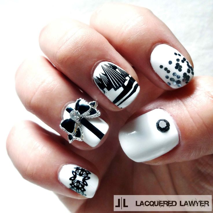 Lacquered Lawyer | Nail Art Blog: Christmas Noir