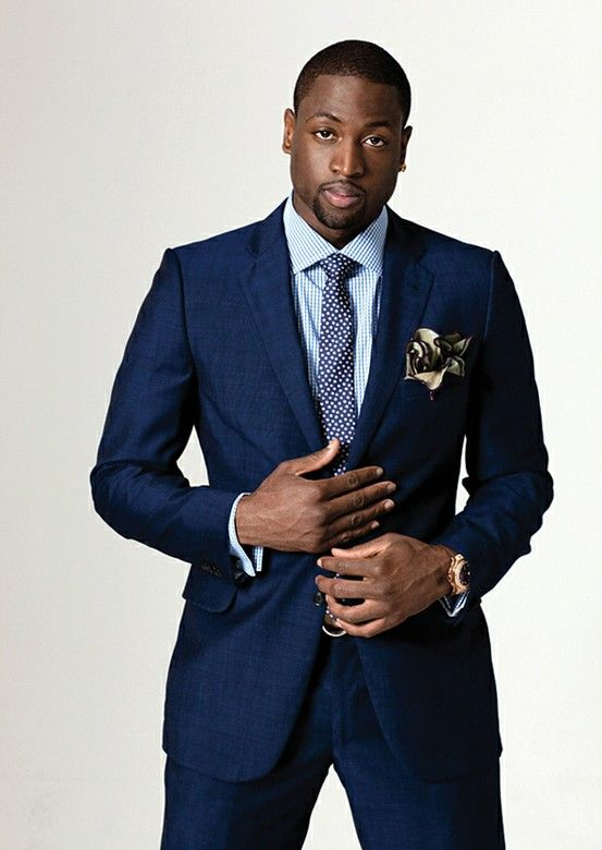 Dwyane Wade looking dapper.