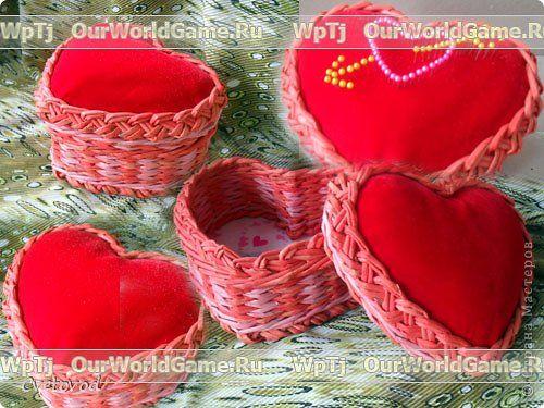 Master Class la 8 martie Ziua Data nasterii modelare de design Îndrăgostiților Ziua Mamei țesut sicriu în formă de inimă pe carton material ...