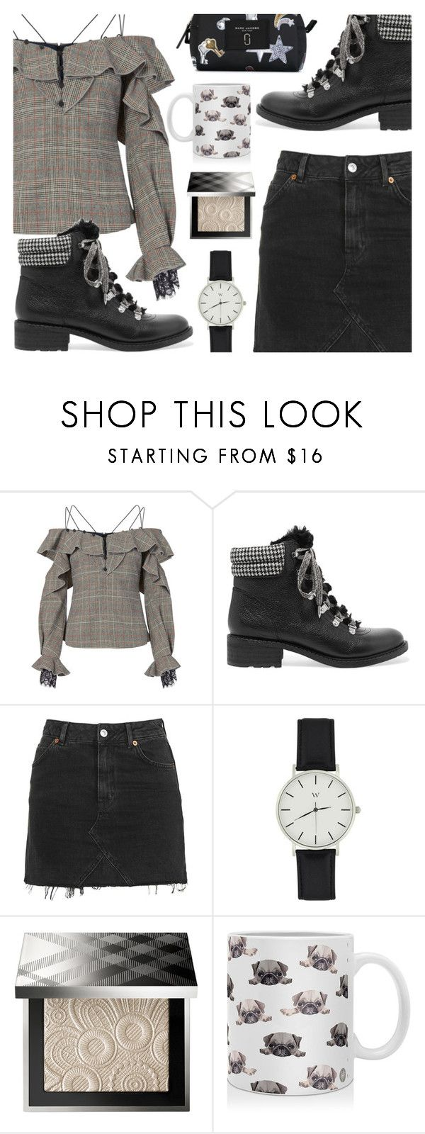 """Model Off Duty"" by ana3blue on Polyvore featuring self-portrait, Sam Edelman, Topshop, Sephora Collection, DENY Designs and Marc Jacobs"