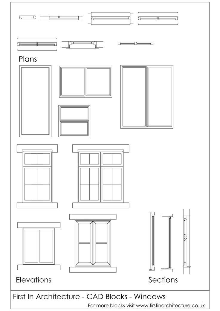 CAD Blocks Windows – Debs Shaw Goodge