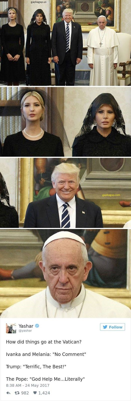 Funny Memes About Donald Trump's meeting with Pope Francis
