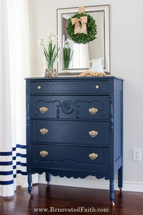 Benjamin Moore Hale Navy 7 Tips You Should Know Before Painting In 2020 Blue Painted Furniture Navy Blue Furniture Painted Furniture Colors