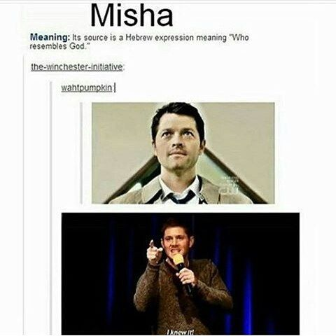 """This is a poor paraphrase of מיכאל that completely misses its theological significance. """"Misha"""" is a Russian form of the name Michael, which itself is derived from Hebrew. מיכאל does not mean """"He resembles God"""" as the image suggests – it has absolutely nothing to do with looking like God. It is a rhetorical question – """"Who is like God?"""" – which is supposed to evoke an immediate declaration of the core belief that """"There is none like YHWH!"""" (Exodus 8:10)"""