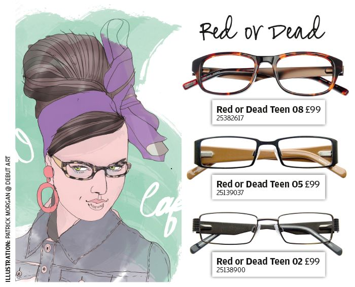 The Red or Dead teen eyewear range oozes the brand's edgy, quirky style