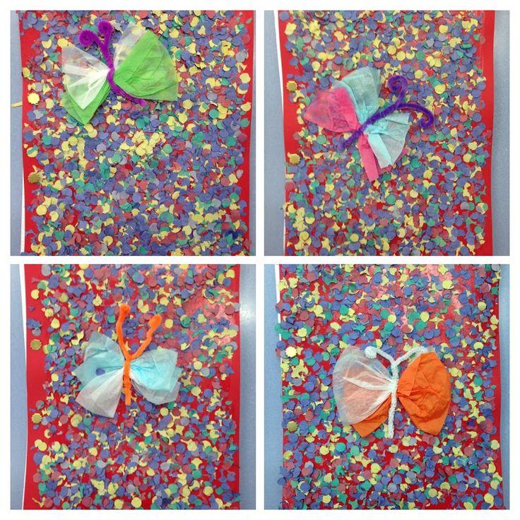 TAPES ÀLBUM - Material: paper, confetti, netejapipes, cola - Nivell: CI 2PRIM 2015/16 Escola Pia Balmes