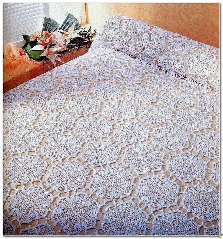 17 meilleures id es propos de mod le de couvre lit en crochet sur pinterest couvre lit en. Black Bedroom Furniture Sets. Home Design Ideas
