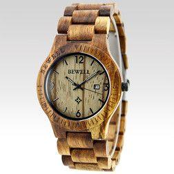 Dřevěné hodinky Larix světle hnědé