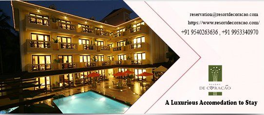 Grow Your Love For Beaches By Staying At Resort De Coracao At Calangute Beach Resort Interior Resort House Styles