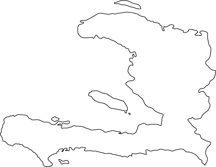 Haiti outline map
