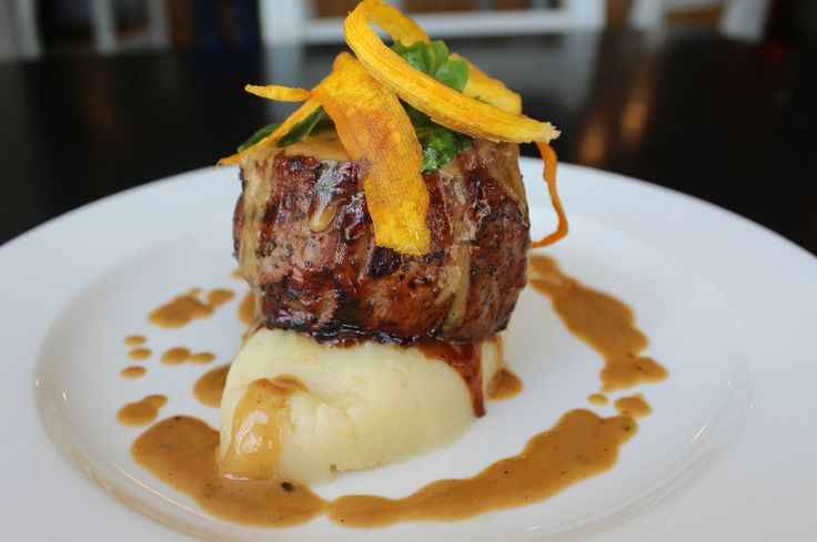 230g Fillet Steak On Pecorino Mash With Pepper Brandy Sauce