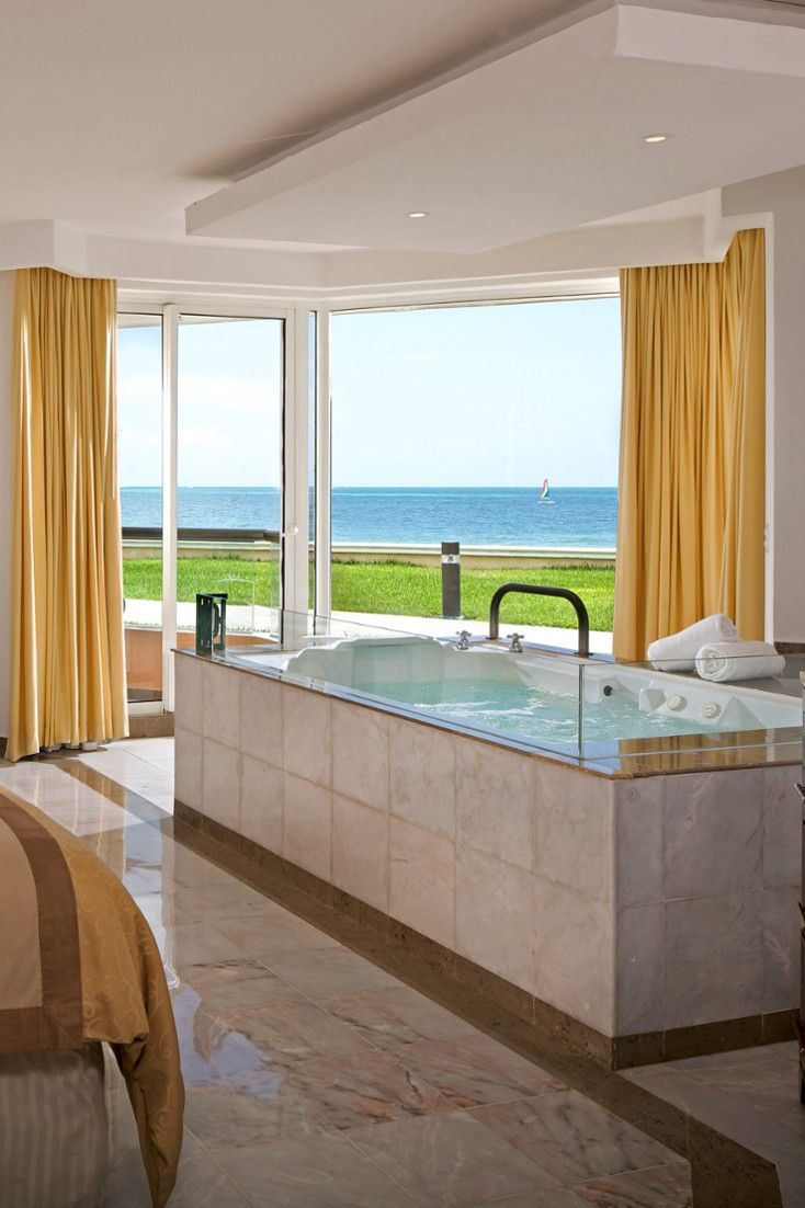 Moon Palace, Cancun - Double Jacuzzis and large outdoor balconies feature in every room. #Jetsetter