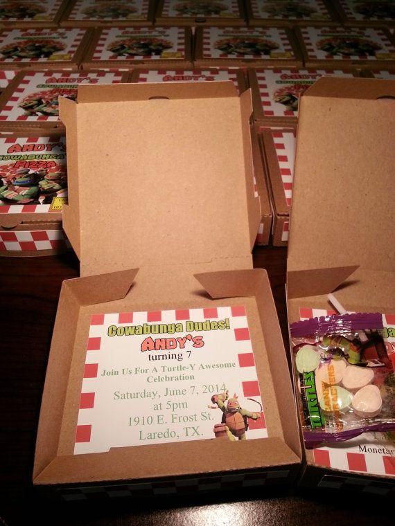Teenage Mutant Ninja Turtle Pizza TMNT Pizza caja caja del