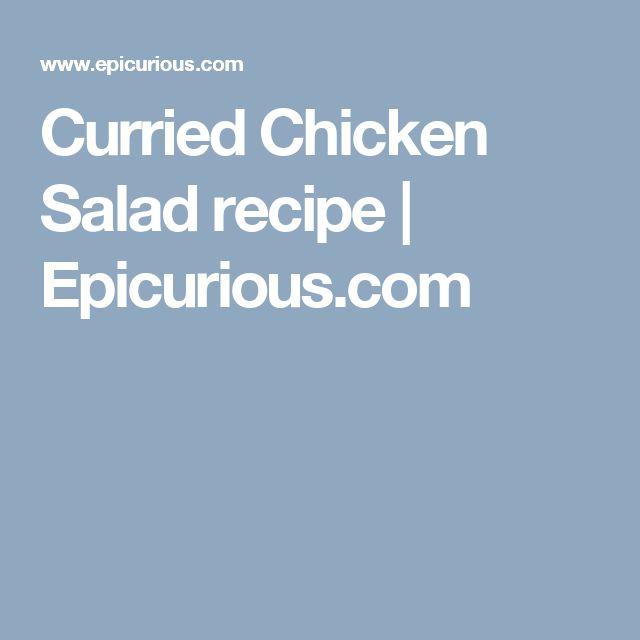Curried Chicken Salad recipe | Epicurious.com