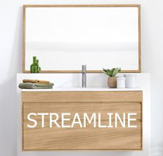 Web Photo Gallery Beauty and the Bath STREAMLINE floating vanity by Line Art es plete with a white ceramic counter top and basin Available in sizes choice u