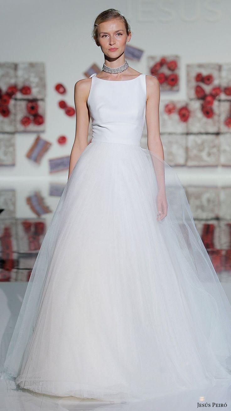 4148 best the modern bride dresses gowns images on pinterest jesus peiro bridal 2017 sleeveless bateau ball gown wedding dress ombrellifo Gallery