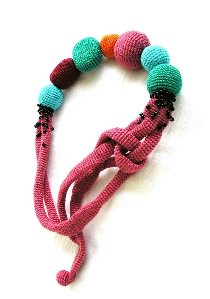 handmade cotton necklace