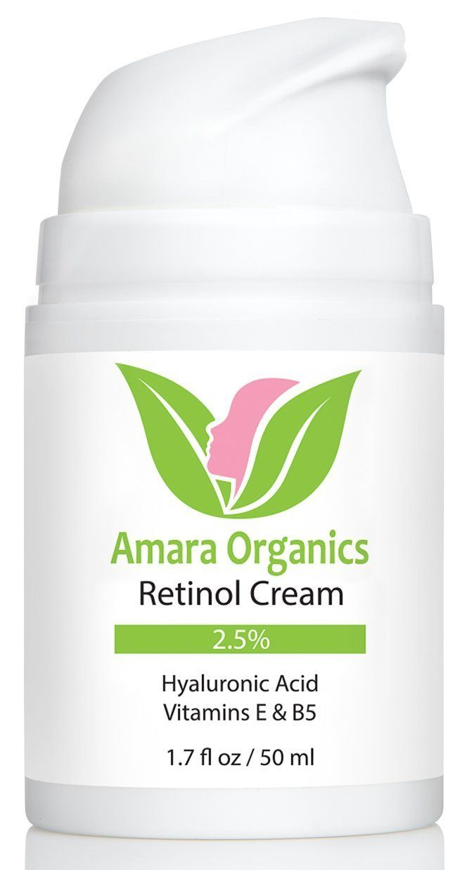 Amara Organics Retinol Cream for Face 2.5% with Hyaluronic Acid and Vitamins E and B5, 1.7 fl. oz * You can find out more details at the link of the image.