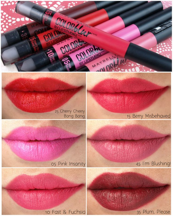 Maybelline Color Blur Matte Lip Pencils: Review and Swatches