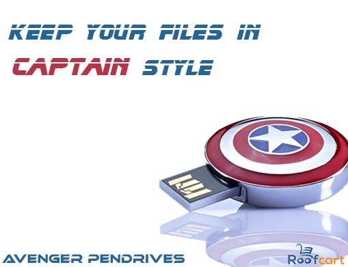 8gb metal Captain America's shield pendrive . Many more Avenger designs available on roofcart.com . Follow us on Instagram and Facebook  for more updates and offers