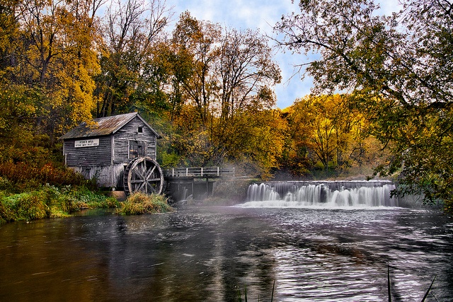 Hyde's Mill (Autumn) - Near Spring Green, WI
