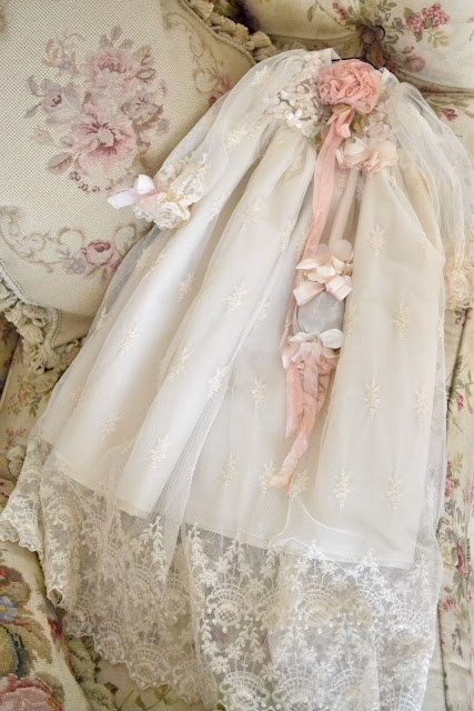 beautiful baby dedication or christening gown.   I still have your Moms. I think?