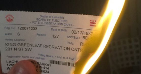 Republicans Are Burning Voter-Registration Cards -- NYMag