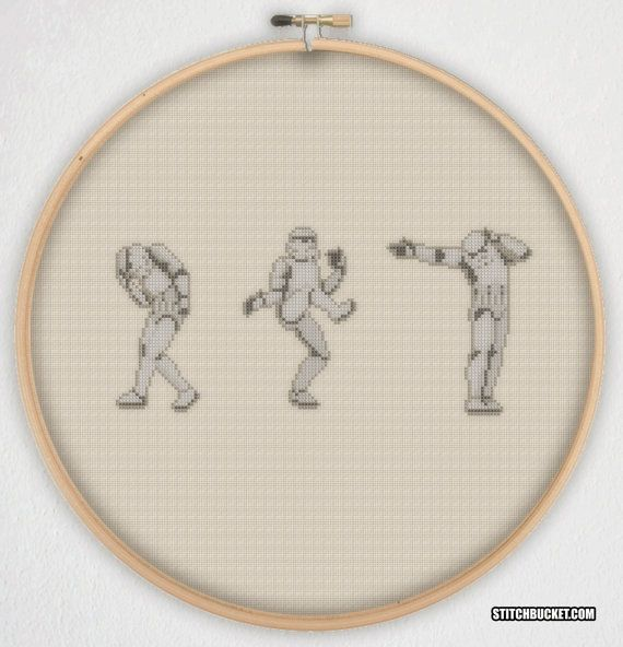Hey, I found this really awesome Etsy listing at https://www.etsy.com/uk/listing/195636291/dancing-stormtroopers-star-wars-cross
