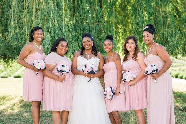 Blush bridesmaids  #wedding #weddings #weddinginspiration #engaged #aislesociety #pinkwedding