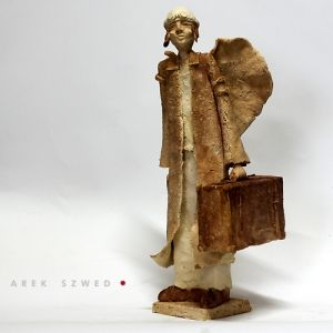 Anioł w długiej dość podróży/ Ceramic Sculpture Arek Szwed