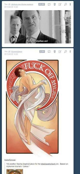 Yup, the Sherlock fandom everyone. That is the most majestic thing ever.